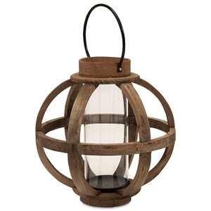 IMAX Worldwide Home Candle Holders and Lanterns Garrett Wood Lantern