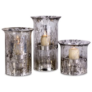 IMAX Worldwide Home Candle Holders and Lanterns Mercury Candleholders - Set of 3