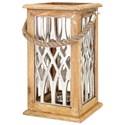 IMAX Worldwide Home Candle Holders and Lanterns Ansley Large Wood and Aluminum Lantern - Item Number: 61419