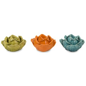 Chelan Flower Candleholders in Gift Box - Se