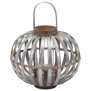 IMAX Worldwide Home Candle Holders and Lanterns Logan Small Galvanized Lantern