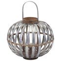 IMAX Worldwide Home Candle Holders and Lanterns Logan Small Galvanized Lantern - Item Number: 65280
