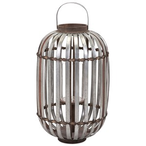 IMAX Worldwide Home Candle Holders and Lanterns Logan Large Galvanized Lantern