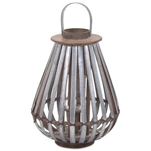 IMAX Worldwide Home Candle Holders and Lanterns Logan Medium Galvanized Lantern