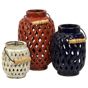 IMAX Worldwide Home Candle Holders and Lanterns Bailey Lattice Lanterns - Set of 3