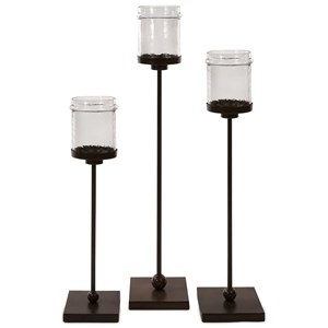 IMAX Worldwide Home Candle Holders and Lanterns Flamenco Floor Candleholders - Set of 3