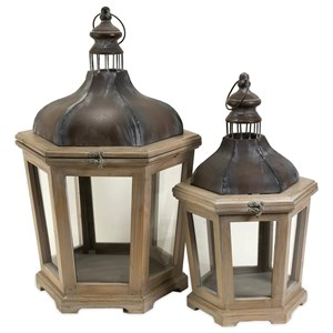 Pomeroy Wood and Metal Lanterns - Set of 2