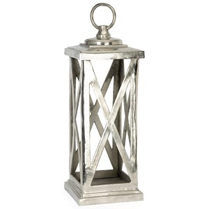 IMAX Worldwide Home Candle Holders and Lanterns Keira Large Aluminum Lantern