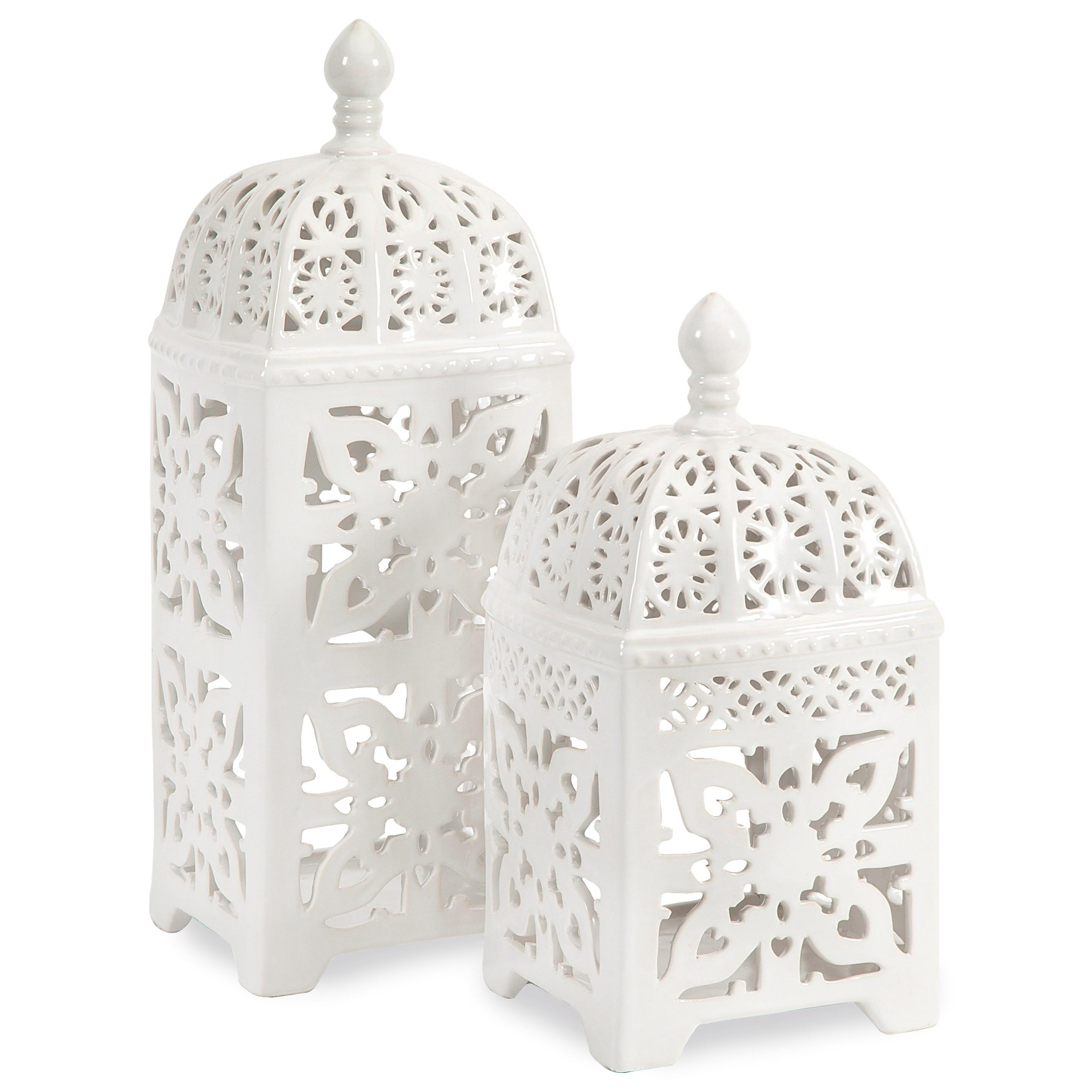 Maya Tealight Lanterns - Set of 2