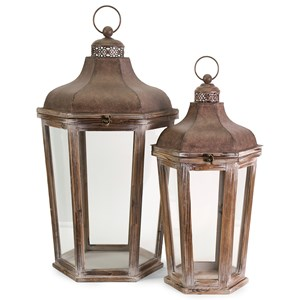 IMAX Worldwide Home Candle Holders and Lanterns Layla Oversized Lanterns - Set of 2