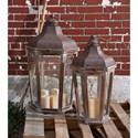 IMAX Worldwide Home Candle Holders and Lanterns Layla Oversized Lanterns - Set of 2 - Item Number: 89020-2