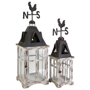 IMAX Worldwide Home Candle Holders and Lanterns Weather Vane Lanterns - Set of 2