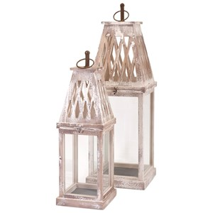 IMAX Worldwide Home Candle Holders and Lanterns Ramsey Lanterns - Set of 2