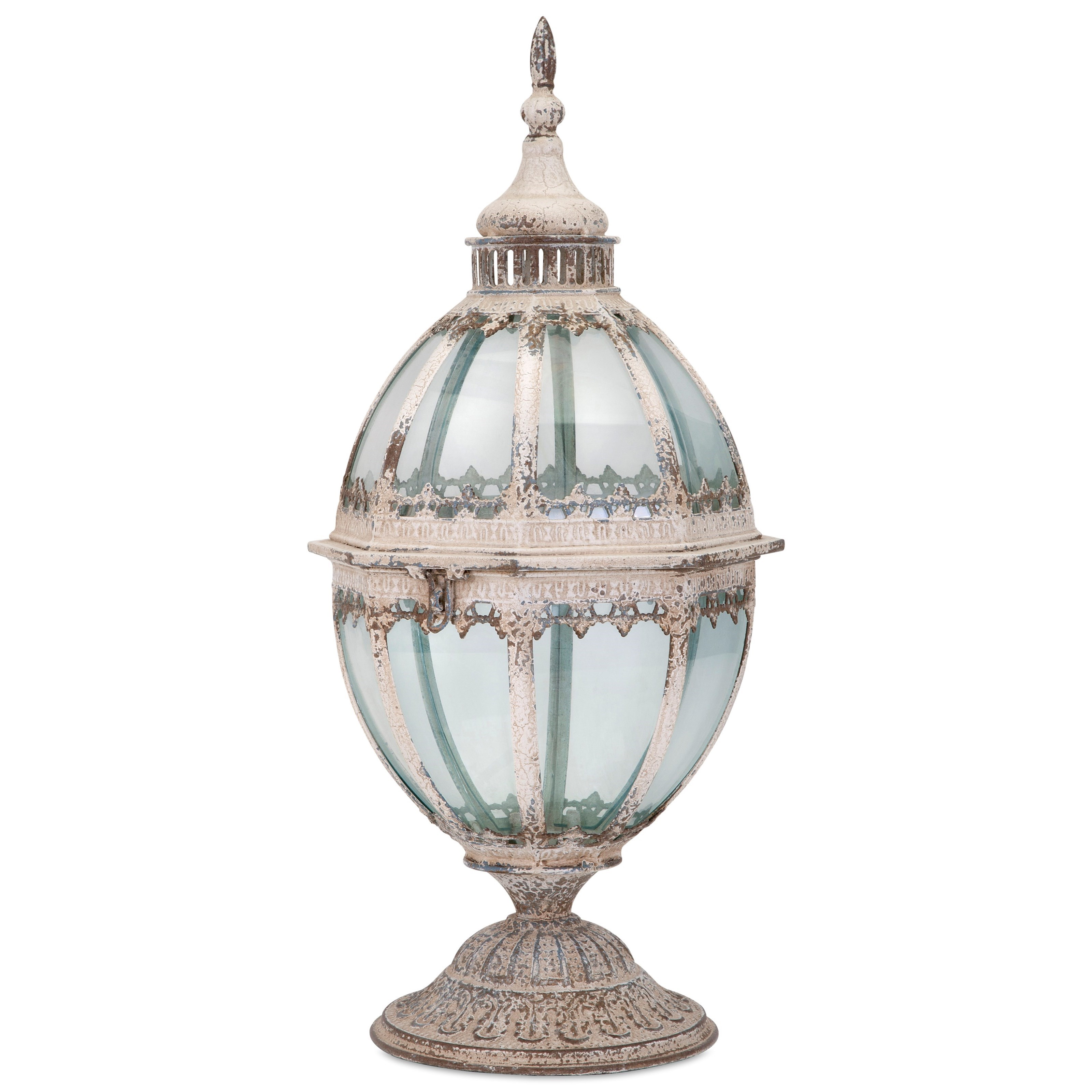 Laurel Metal and Glass Lantern