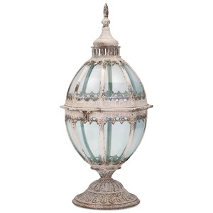 IMAX Worldwide Home Candle Holders and Lanterns Laurel Metal and Glass Lantern