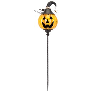 IMAX Worldwide Home Candle Holders and Lanterns Jackson Jack O Lantern Yellow Stake