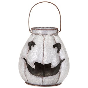 IMAX Worldwide Home Candle Holders and Lanterns Ronan Galvanized Jack-o'-lantern