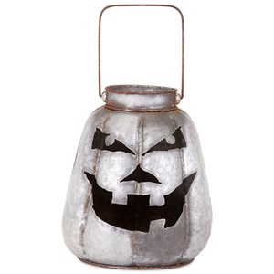 IMAX Worldwide Home Candle Holders and Lanterns Rocco Galvanized Jack-o'-lantern