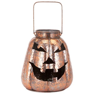 IMAX Worldwide Home Candle Holders and Lanterns Rocco Copper Finish Jack-o'-lantern