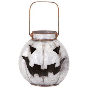 IMAX Worldwide Home Candle Holders and Lanterns Rylan Galvanized Jack-o'-lantern