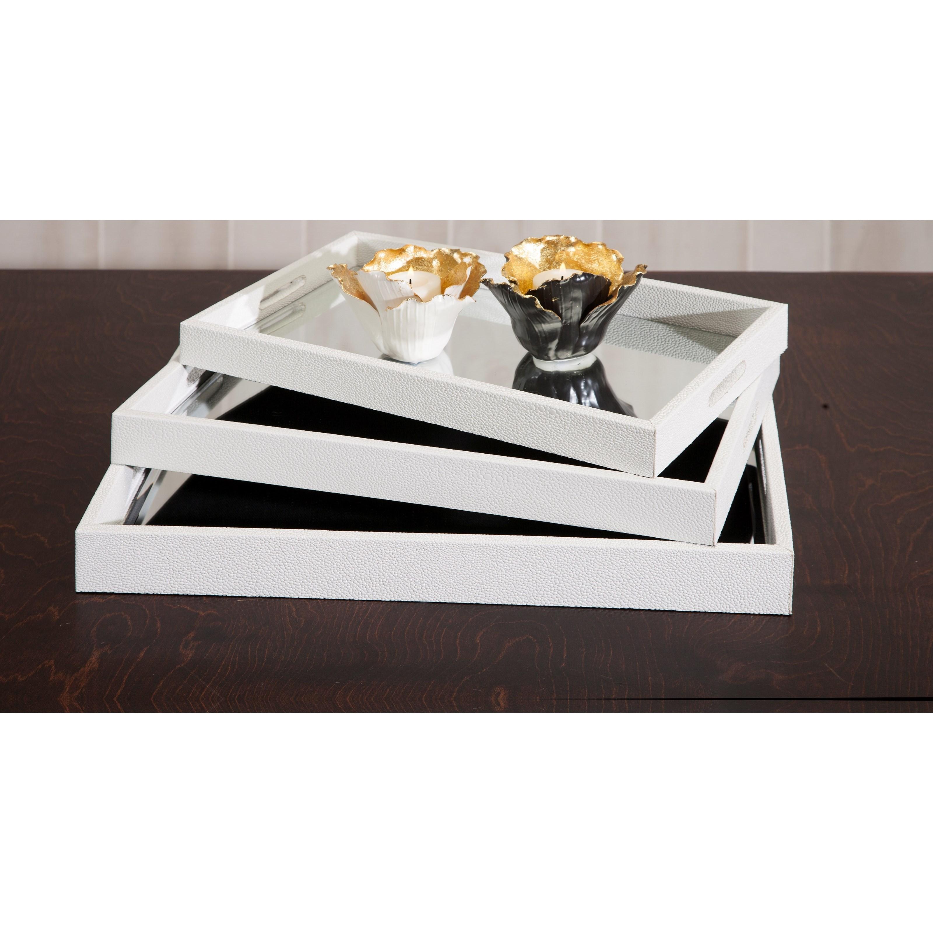 Lucien Gold Leaf Porcelain Candleholders - A