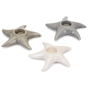IMAX Worldwide Home Candle Holders and Lanterns Sandcastle Starfish Candleholder - Ast 3