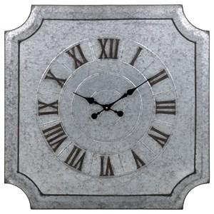 IMAX Worldwide Home Clocks Crestin Galvanized Wall Clock