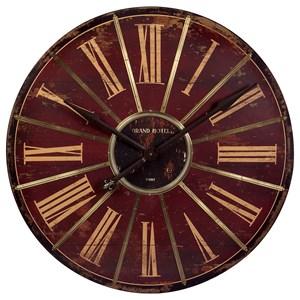 IMAX Worldwide Home Clocks Red Large Wall Clock