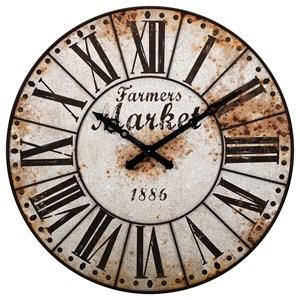 IMAX Worldwide Home Clocks Farmers Market Oversized Wall Clock
