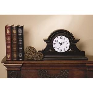 IMAX Worldwide Home Clocks Black Mantel Clock