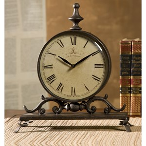 IMAX Worldwide Home Clocks Eilard Iron Table Clock