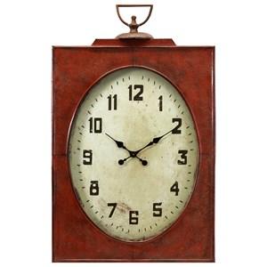 IMAX Worldwide Home Clocks Carnen Oversized Red Wall Clock