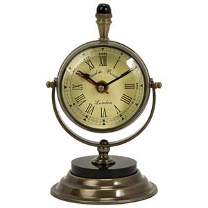 IMAX Worldwide Home Clocks Soren Brass Table Clock