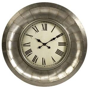 IMAX Worldwide Home Clocks Mesick Aluminum Clock