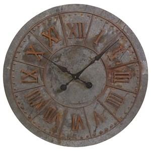 IMAX Worldwide Home Clocks Gilbert Galvanized Clock