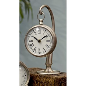 IMAX Worldwide Home Clocks Pewter Finish Hanging Clock