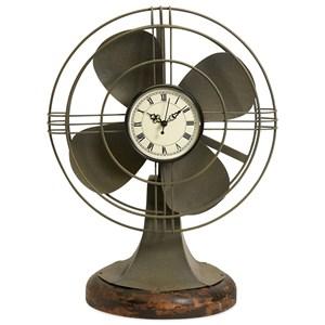 IMAX Worldwide Home Clocks Thatcher Vintage Fan Clock