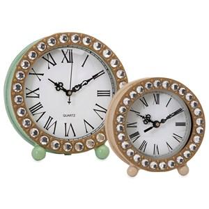 IMAX Worldwide Home Clocks Jeweled Small Clock