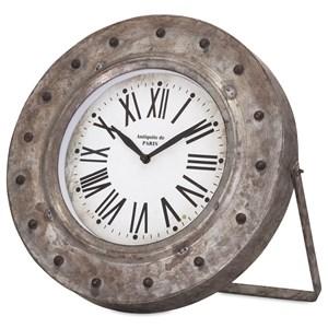 IMAX Worldwide Home Clocks Mabrey Galvanized Desk Clock