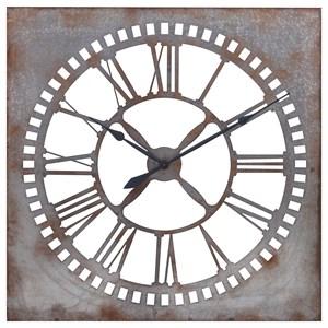 IMAX Worldwide Home Clocks Murphy Galvanized Clock