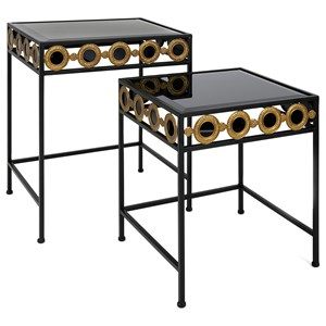 IMAX Worldwide Home Connie Post Concepts Eclipse Accent Tables  - Set of 2