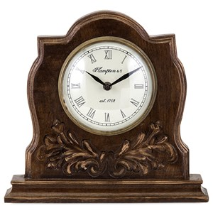 IMAX Worldwide Home Connie Post Concepts Eden Carved Clock