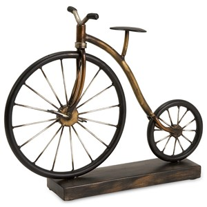 IMAX Worldwide Home Decorative Figurines Big Wheel Bicycle Statuary