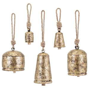 IMAX Worldwide Home Decorative Figurines Alina Temple Bells - Set of 5