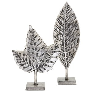 IMAX Worldwide Home Decorative Figurines Keeley Tall Leaf on Stand