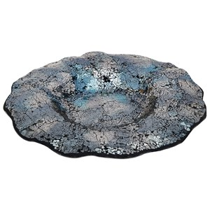 IMAX Worldwide Home Decorative Figurines Addis Glass Mosaic Decorative Charger