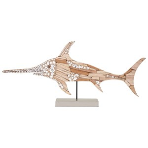IMAX Worldwide Home Decorative Figurines Hasani Mosaic Swordfish Statuary