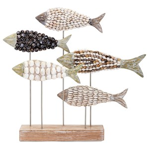 IMAX Worldwide Home Decorative Figurines Mahi Mosaic Shell Fish Statuary