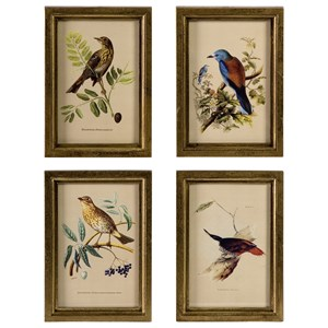 IMAX Worldwide Home Decorative Figurines Wooden Bird Plaques - Set of 4