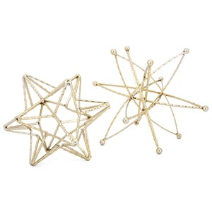 IMAX Worldwide Home Decorative Figurines Tahvo Stars - Set of 2